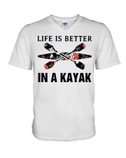 Kayaking - Life Is Better In A Kayak V-Neck T-Shirt thumbnail