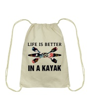 Kayaking - Life Is Better In A Kayak Drawstring Bag thumbnail
