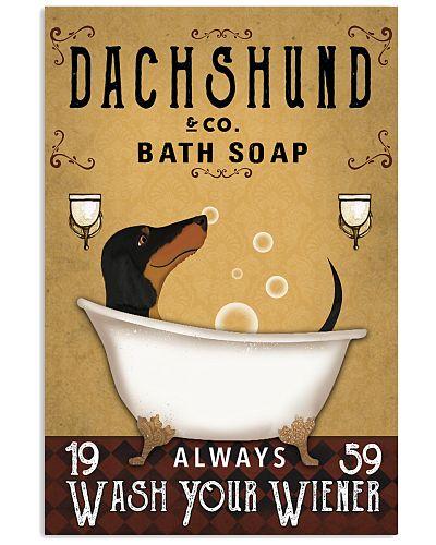Dachshund Orange Always Wash Your Wiener