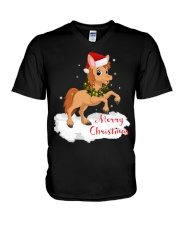 Horses - Merry Christmas V-Neck T-Shirt thumbnail