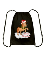 Horses - Merry Christmas Drawstring Bag thumbnail