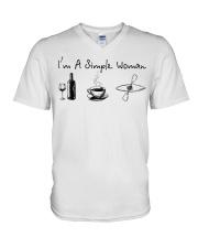 Kayaking - I Am A Simple Woman V-Neck T-Shirt thumbnail