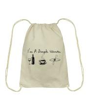 Kayaking - I Am A Simple Woman Drawstring Bag thumbnail