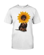 Dachshund - Sunflower Classic T-Shirt front