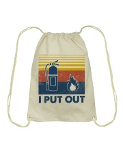 Firefighter I Put Out Drawstring Bag thumbnail