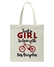 Cycle - Girl Tote Bag thumbnail