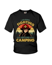Camping I Am Done Fighting Youth T-Shirt thumbnail
