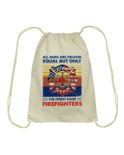 Independence Day Finest Firefighter Dad Drawstring Bag thumbnail