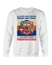 Independence Day Finest Firefighter Dad Crewneck Sweatshirt tile