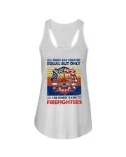 Independence Day Finest Firefighter Dad Ladies Flowy Tank tile
