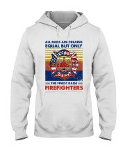 Independence Day Finest Firefighter Dad Hooded Sweatshirt thumbnail