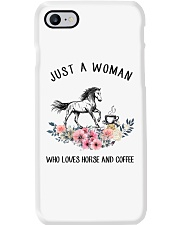 Horse - Just A Woman Who Loves Horse And Coffee Phone Case thumbnail