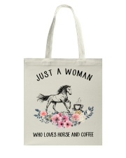 Horse - Just A Woman Who Loves Horse And Coffee Tote Bag thumbnail