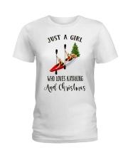 Kayaking - Just A Girl Ladies T-Shirt thumbnail