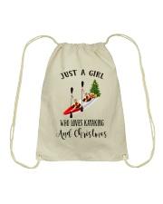 Kayaking - Just A Girl Drawstring Bag thumbnail