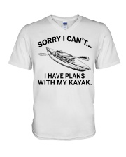 Kayaking - I Have Plans With My Kayak V-Neck T-Shirt thumbnail