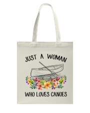 Canoeing - Just A Woman Who Loves Canoes Tote Bag thumbnail