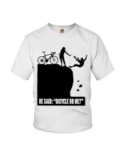 Cycle - He Said: Bicycle Or Me Youth T-Shirt thumbnail