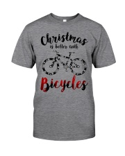 Cycle - Christmas Is Better With Bicycles Classic T-Shirt front