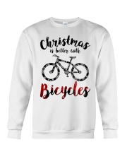 Cycle - Christmas Is Better With Bicycles Crewneck Sweatshirt thumbnail