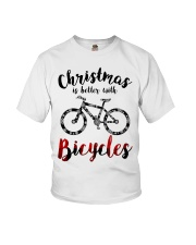 Cycle - Christmas Is Better With Bicycles Youth T-Shirt thumbnail
