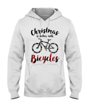 Cycle - Christmas Is Better With Bicycles Hooded Sweatshirt thumbnail