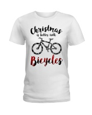 Cycle - Christmas Is Better With Bicycles Ladies T-Shirt thumbnail