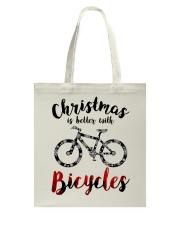 Cycle - Christmas Is Better With Bicycles Tote Bag thumbnail