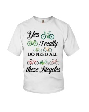Cycle - I Really Do Need Al These Bicycles Youth T-Shirt thumbnail