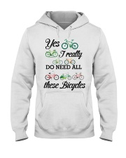 Cycle - I Really Do Need Al These Bicycles Hooded Sweatshirt thumbnail