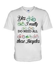 Cycle - I Really Do Need Al These Bicycles V-Neck T-Shirt thumbnail