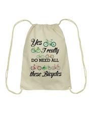 Cycle - I Really Do Need Al These Bicycles Drawstring Bag thumbnail