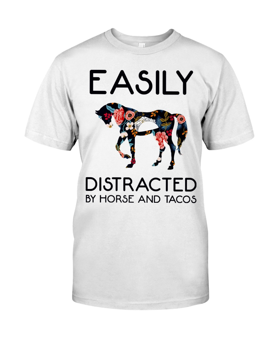 Horse - Easily Ditracted By Horse And Tacos Classic T-Shirt