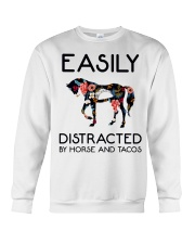 Horse - Easily Ditracted By Horse And Tacos Crewneck Sweatshirt thumbnail