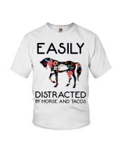Horse - Easily Ditracted By Horse And Tacos Youth T-Shirt thumbnail