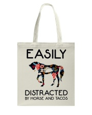 Horse - Easily Ditracted By Horse And Tacos Tote Bag thumbnail