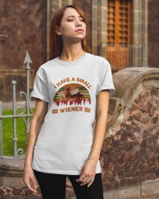 I Have Small Wiener Classic T-Shirt apparel-classic-tshirt-lifestyle-06