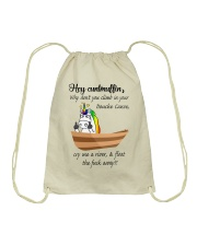 Canoeing - Hey Cuntmuffin Drawstring Bag thumbnail