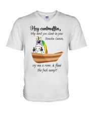 Canoeing - Hey Cuntmuffin V-Neck T-Shirt thumbnail