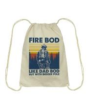 Firefighter Bod Like Dad Bod Drawstring Bag thumbnail