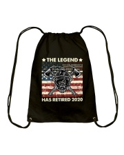 Father's Day Firefighter Legend Dad Drawstring Bag thumbnail