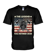 Father's Day Firefighter Legend Dad V-Neck T-Shirt thumbnail