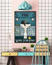 Black Pug Sink Paw 16x24 Poster lifestyle-poster-6