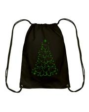 Dachshund - Christmas Tree Drawstring Bag thumbnail