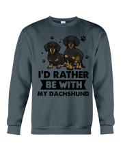 Be with my  dachshund Crewneck Sweatshirt thumbnail