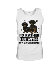 Be with my  dachshund Unisex Tank thumbnail