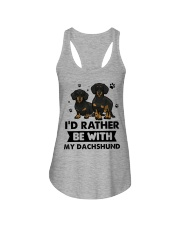Be with my  dachshund Ladies Flowy Tank thumbnail