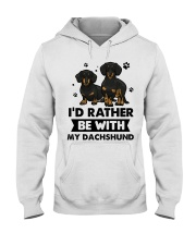 Be with my  dachshund Hooded Sweatshirt front