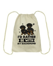 Be with my  dachshund Drawstring Bag thumbnail