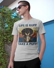 Dachshund Life Is Ruff Take A Puff Classic T-Shirt apparel-classic-tshirt-lifestyle-17